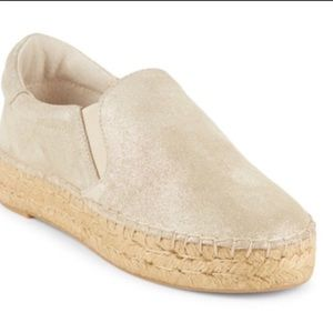 NEW Leather Espadrilles Slip Ons Marc Fisher 8.5